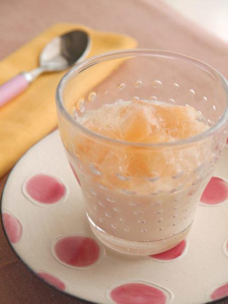 白桃のパンナコッタ