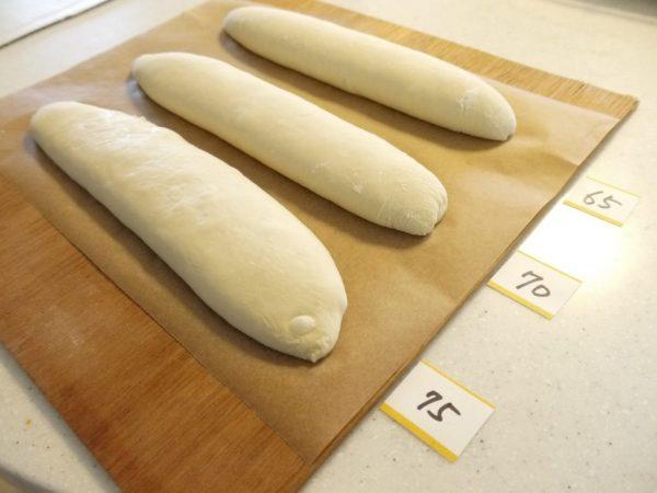 応用フランスパンホイロ比較